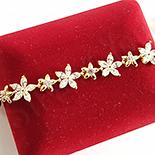 Cadouri Femei 1-8 Martie - Bratara in culoarea aurului 14K zirconii albe - ZS1280