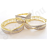 Cadouri Femei 1-8 Martie - Set inel si cercei in culoarea aurului 14K zirconii albe - ZS1260