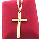 PANDANTIVE - Cruce cu lant aurite cu aur de 14K - ZS1261