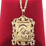 Cruce cu lant aurit cu aur de 14k - ZS1262A