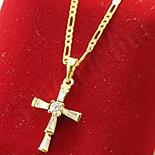 Cadouri Femei 1-8 Martie - Pandantiv cu lant in culoarea aurului 14K zirconii albe - ZS1322